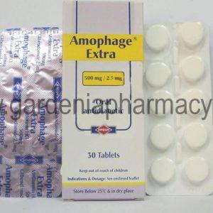 AMOPHAGE 500/2.5MG 30TAB