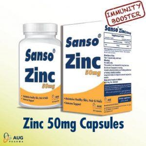 SANSO ZIN 50 MG 30 CAPS