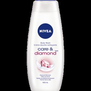 NIVEA CARE & DIAMOND SHOWER GEL 750ML
