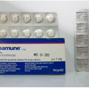 Rapamune 1 mg 30 tab